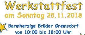 Werkstattfest der Barmherzigen Brüder Gremsdorf am 25.11.2018. Kisus ist dabei